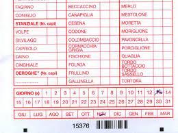 Calendario Venatorio Piemonte 2020.Le Istruzioni Per La Compilazione Del Tesserino Venatorio
